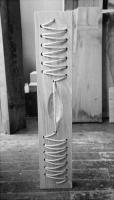 Lothar Rumold: Traum von der Direktrice, 1993, Esche, Seil, H 86 cm