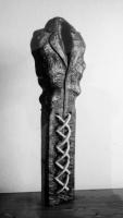 Lothar Rumold: Mantel, 1995, Eiche (gebeizt), 71 x 22 x 10 cm