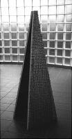 Lothar Rumold: Sisyphos, 1999, Esche, 180 x 60 x 60 cm