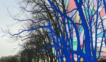 Lothar Rumold: Platanen-Allee, 2018, Tablet-Zeichnung, 41:70