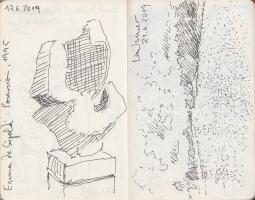 Lothar Rumold: Moleskine-Skizzenbuch I, 14 x 9 cm