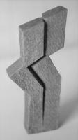 Lothar Rumold: Paarspalterei, 1993, Eiche (getönt), H 28 cm