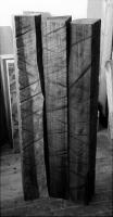 Lothar Rumold: Selbdritt, 1995, Kambala-Holz, 144 x 54 x 25 cm