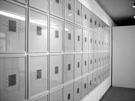 Lothar Rumold: Hundert mal hundertzwanzig, 1997-2001, Bleistift auf Karton, je 40 x 30 cm