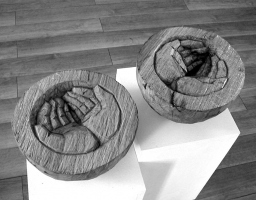 Lothar Rumold: Platonische Begegnungen - Die Hände, 2005, Eiche, D 24 cm