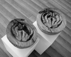 Lothar Rumold: Platonische Begegnungen - Die Ohren, 2005, Eiche, D 24 cm