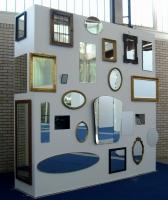 Lothar Rumold: Kunststück mit Spiegeln, 2009, Video- und Spiegelinstallation