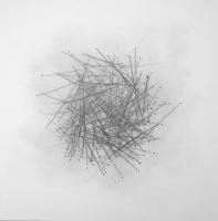 Lothar Rumold: Januar-Blatt Nr. 4 (Serie von 50 Blättern), 2013, Bleistift auf Papier, 40 x 40 cm