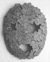 Lothar Rumold: Maske, 2015, Eiche, 30 x 25 x 6 cm
